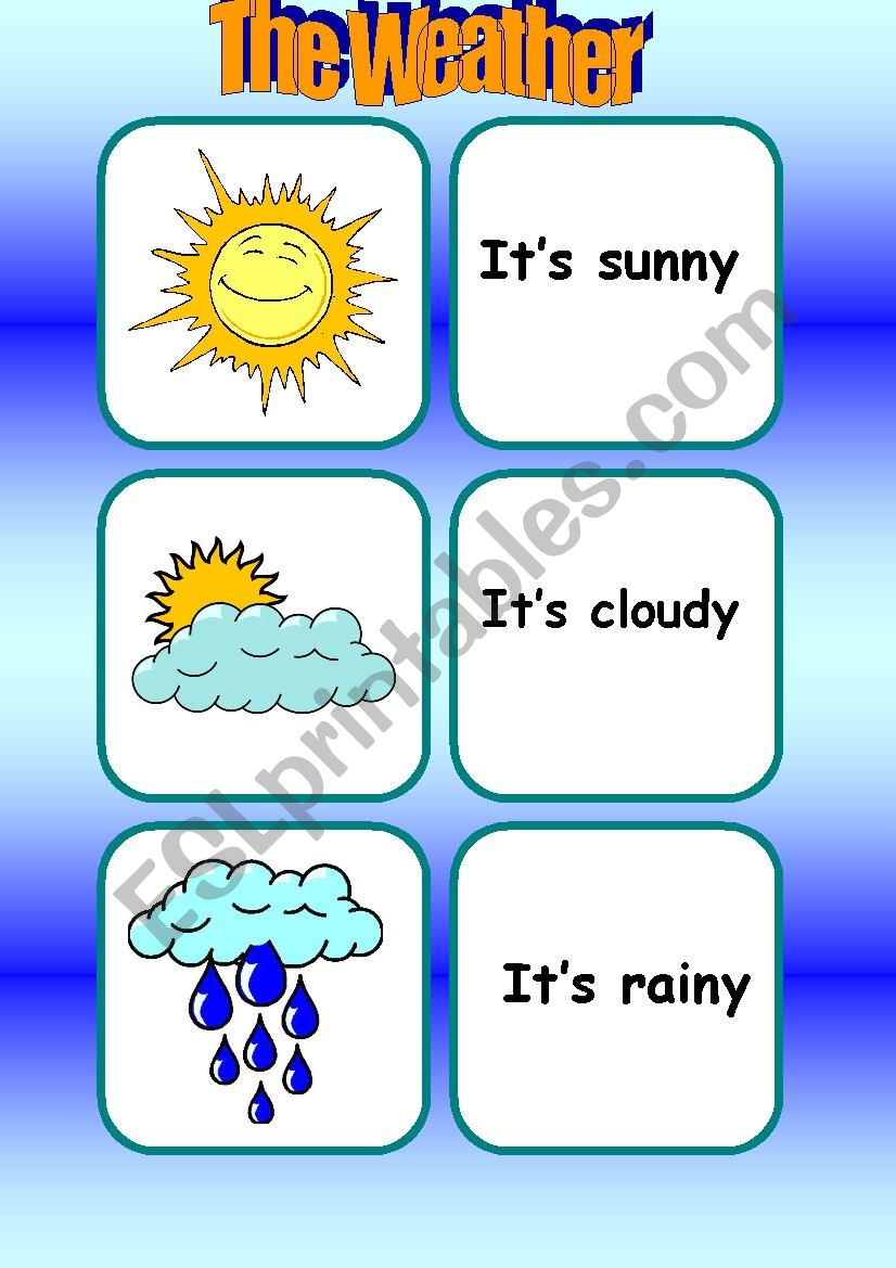 The Weather [Flashcards] worksheet